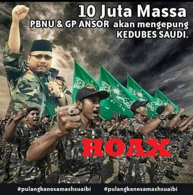 Meluruskan Kabar hoax 'GP Ansor Bakal Kepung Kedubes Saudi'