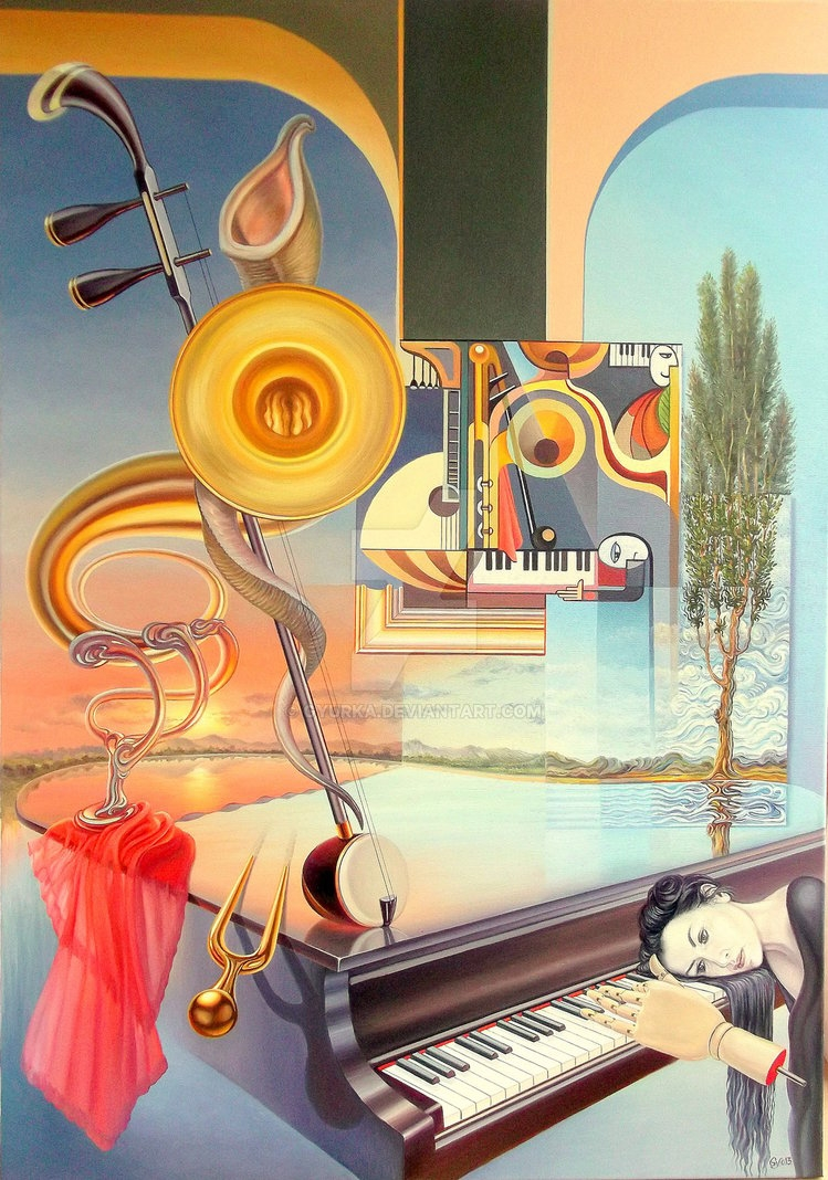 03-Intermezzo-Gyuri-Lohmuller-Complex-Surreal-Paintings-that-make-you-Think-www-designstack-co