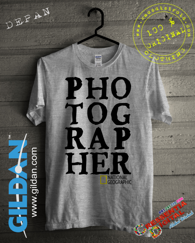Baju Kaos Photographer