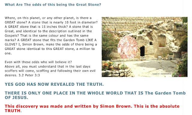 the Great Stone at Mount Nebo called The Abu Badd stone. MAJOR DISCOVERY PROVING THE GOSPELS.