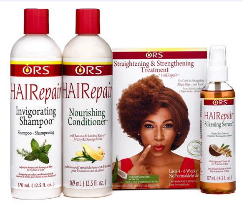 Bottles of ORS hairvolution