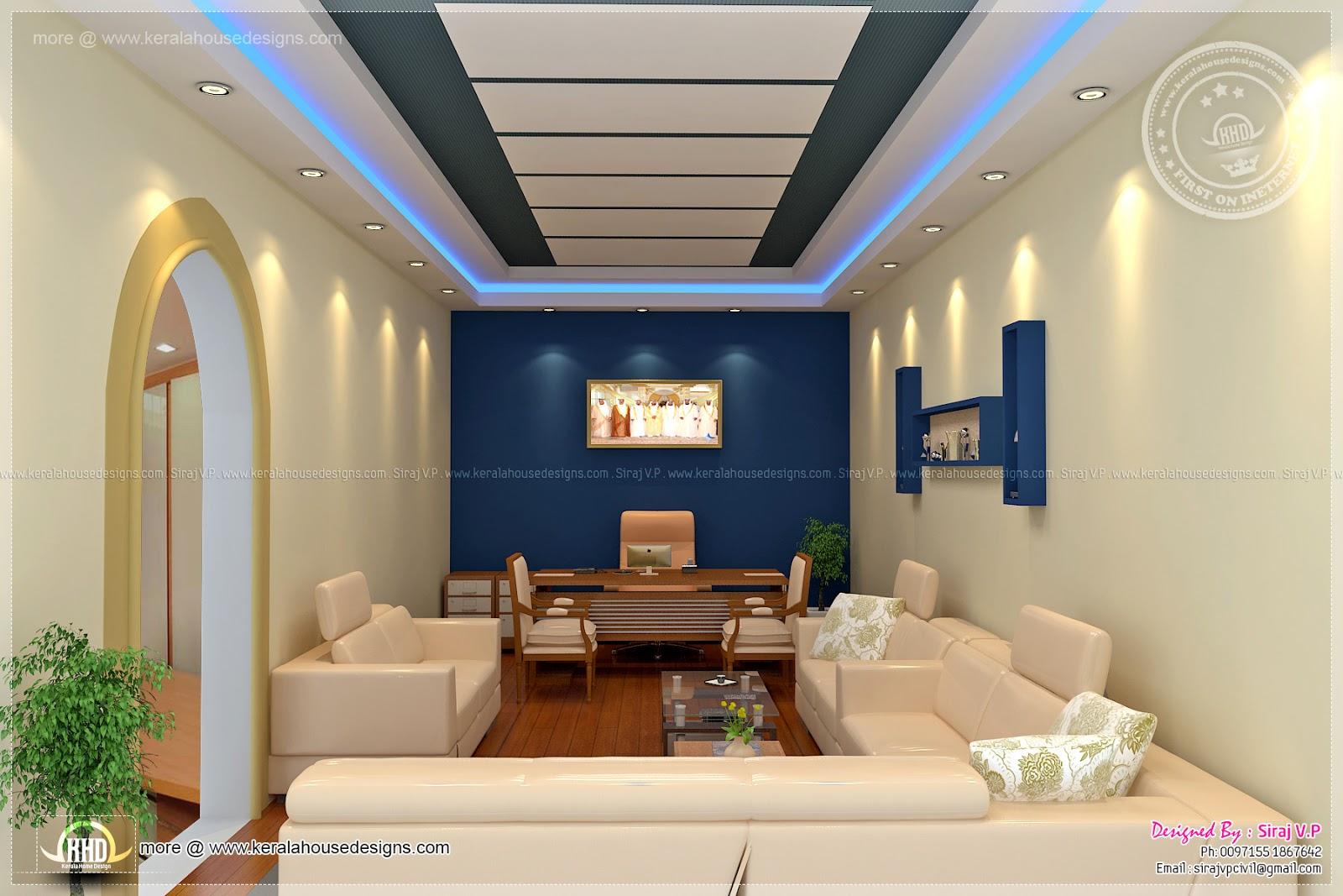 Home office interior design by siraj v p kerala home - Home office interior design pictures ...