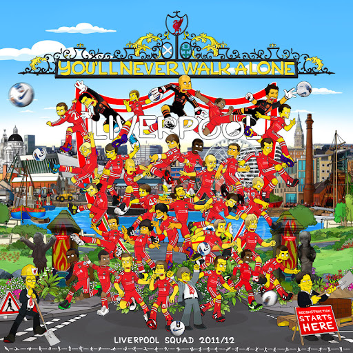 Liverpool get Simpsons makeover