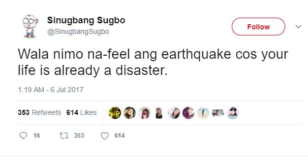 My list of Earthquake Hugot Posts! #Nabasakolang - The Lazy