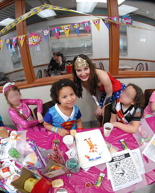 How to Host a Super Girl Birthday | Wonder Woman at McDonald's
