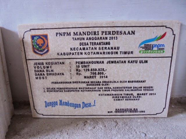 Contoh Model Prasasti Marmer Sesuai PTO PNPM