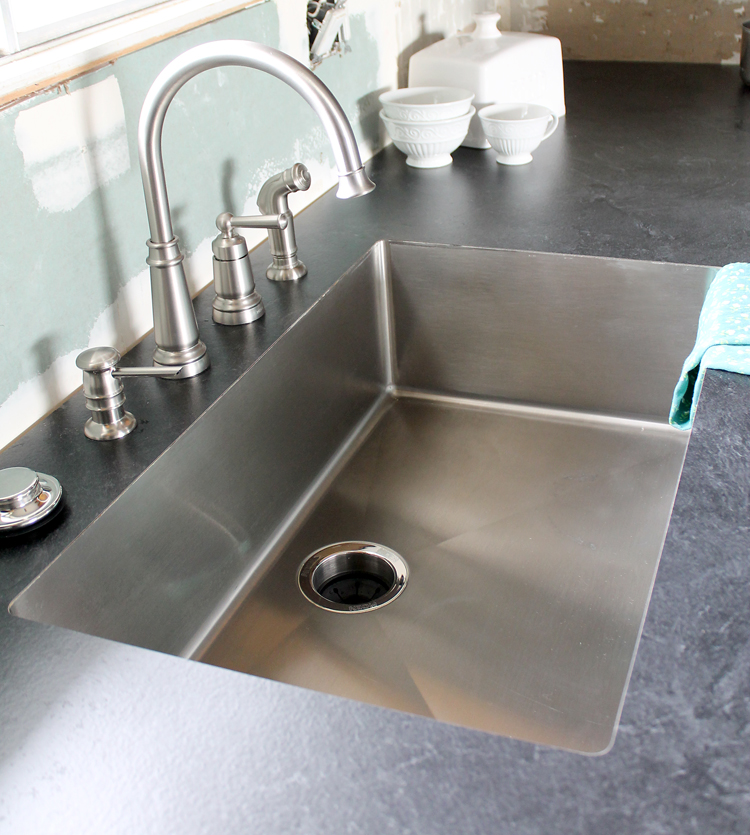 Top Mount Kitchen Sink And Faucet Combo