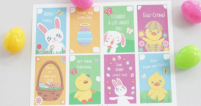 8 Adorable Easter Notes for Kids | Free Printables
