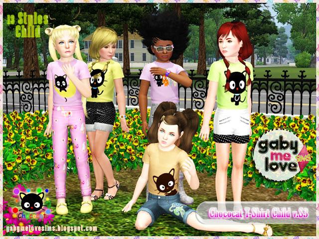 Chococat T-Shirt Child v.S3, Sims 3 - Gabymelove Sims
