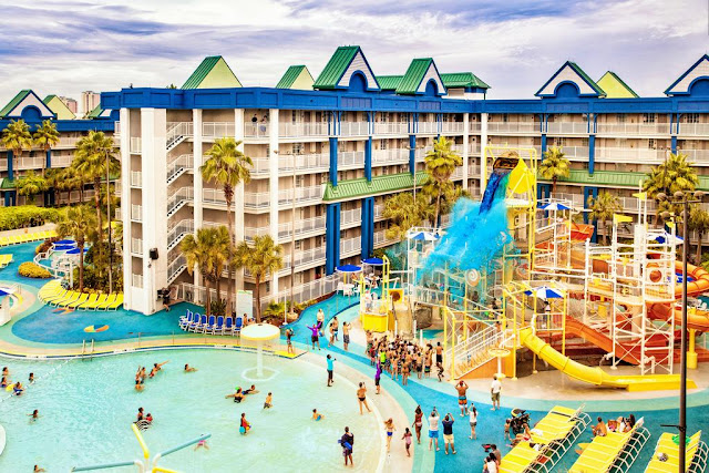Enjoy the Holiday Inn Resort Orlando Suites - Waterpark in Orlando, Florida at the entrance to the WALT DISNEY WORLD® Resort where Kids 11 and under eat free for breakfast and dinner! A Walt Disney World Good Neighbor Hotel, The Holiday Inn Resort Orlando Suites – Waterpark is located in the heart of Orlando, one mile from the Walt Disney World Resort theme parks.