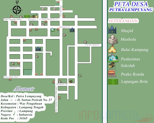 Peta Kampung Putra Lempuyang