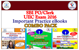 SBI Clerk/PO 2016- Important Practice eBooks (COMBO PACK) Download in PDF