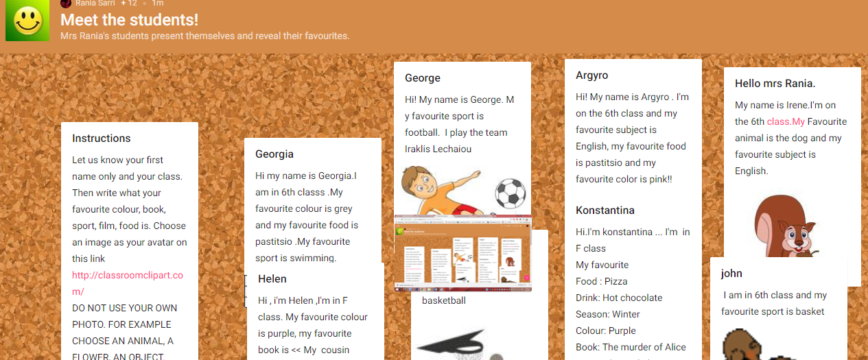 PADLET: MEET THE STUDENTS