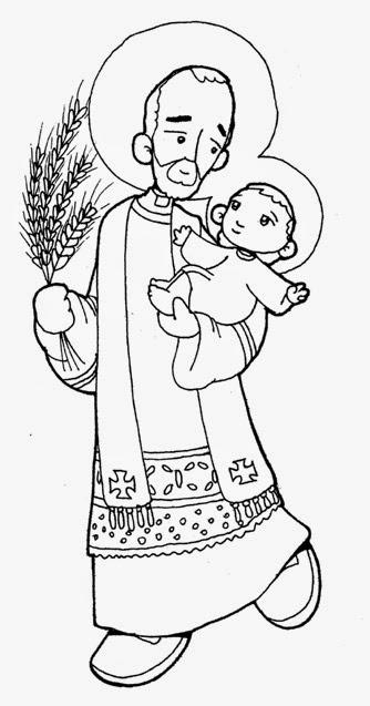 Santoral Católico ®: Virgen y Santos para Colorear