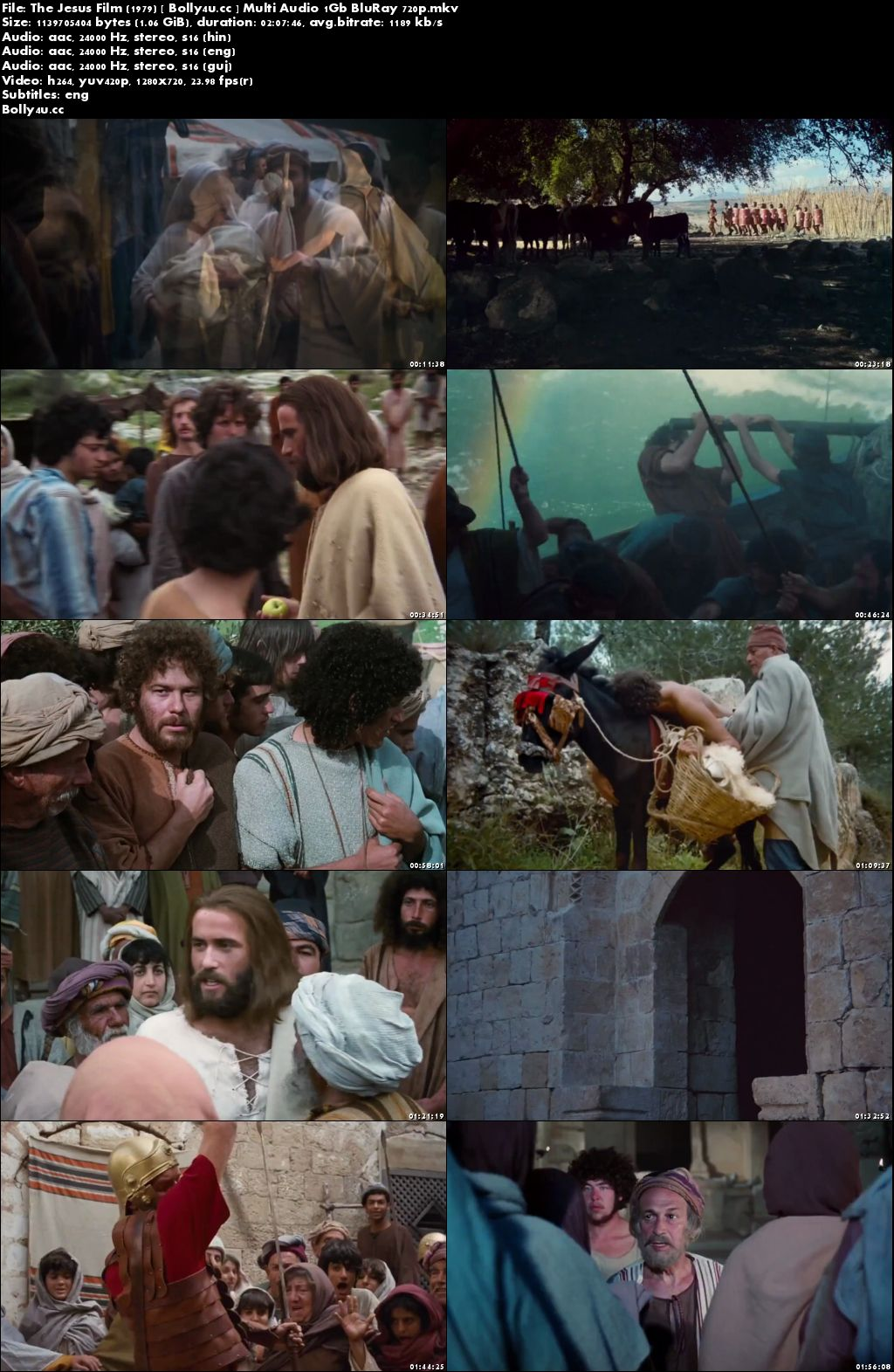 The Jesus Film 1979 BluRay 1Gb Hindi Multi Audio 720p ESub Download