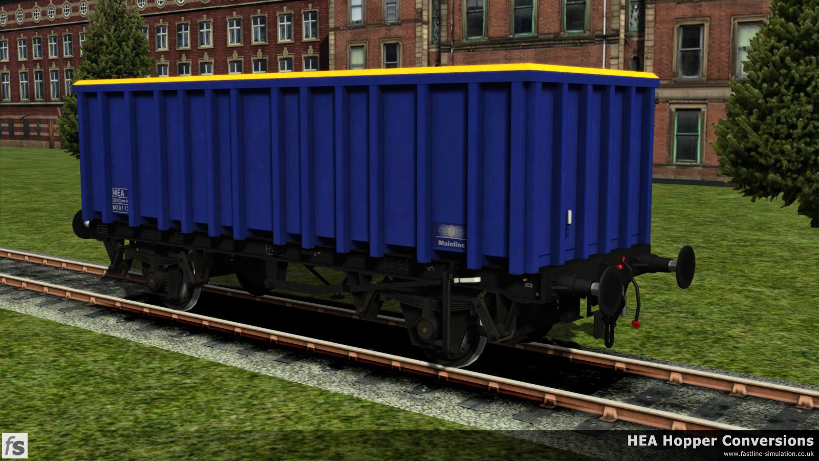 Fastline Simulation - HEA Conversions: Following rapidly after the MEA conversions for Railfreight Coal came an order for further wagons sponsored by Mainline. These wagons were essentially the same as the previous conversion but omitted the inspection ladder fitted to one end of the previous batch.