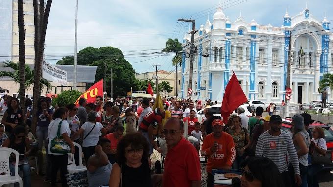Servidores do RN protestam novamente contra o pacote fiscal nesta terça.