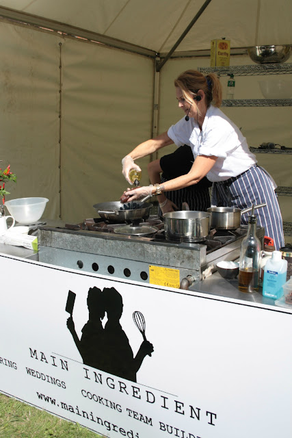 The cocoa marinated venison, roasted beets and celeriac puree demonstration from Main Ingredient at Taste of Berkhamsted