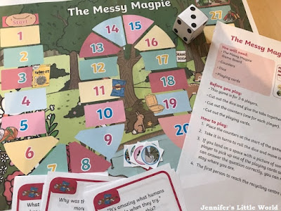 Twinkl The Messy Magpie board game