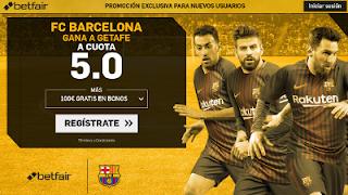 betfair supercuota victoria de Barcelona o Getafe 16 Septiembre