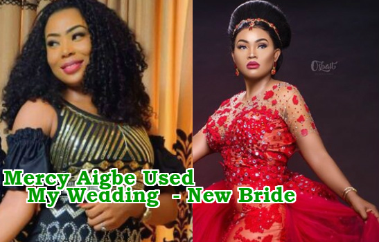 mercy aigbe used borrowed wedding dress 40th birthday shoot