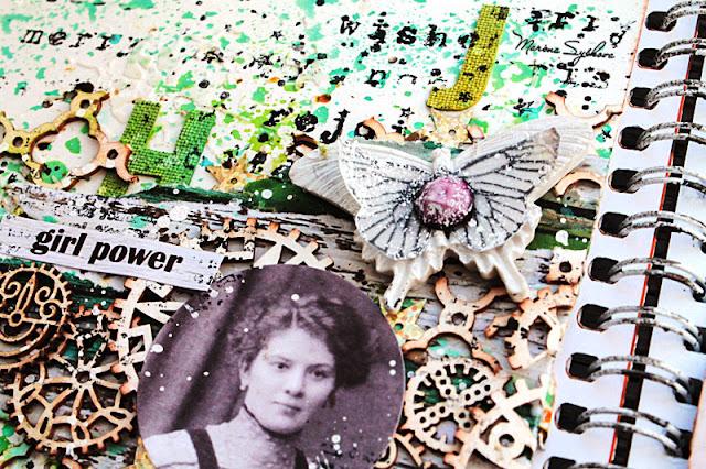 @marinasyskova #scrap #scrapbooking #artjournal #artbook #mixedmedia #7dotsstudio