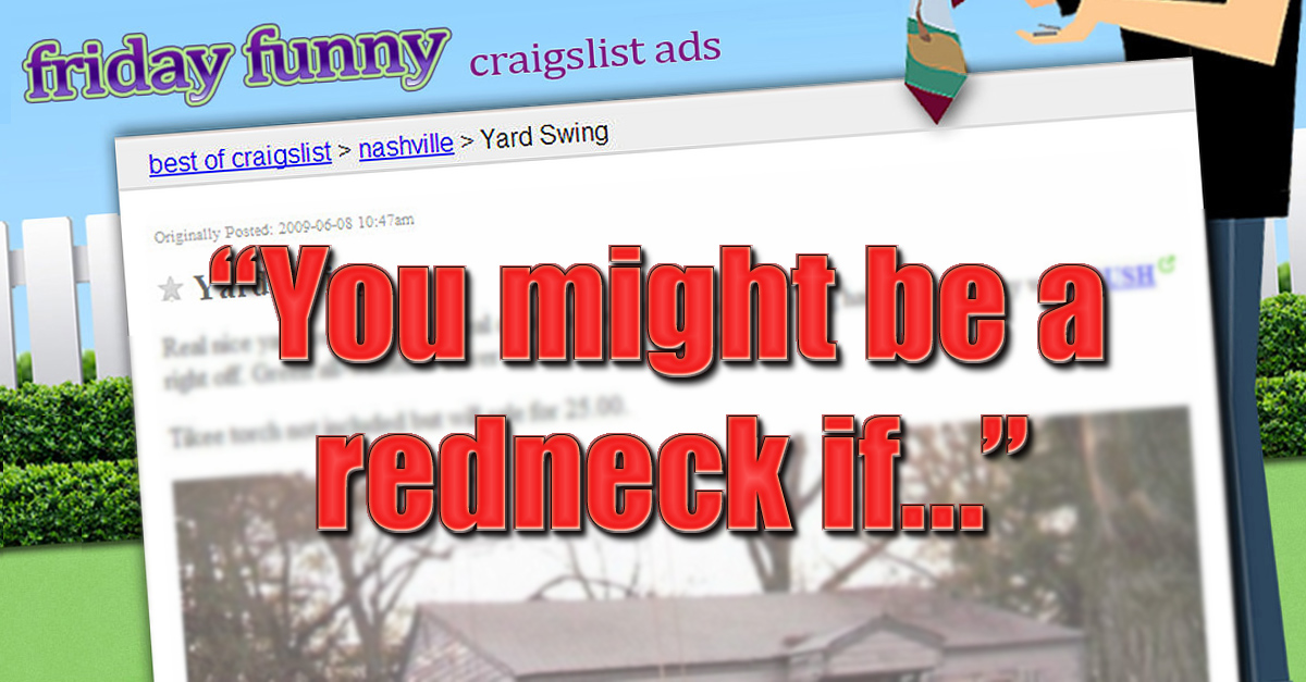 Redneck Yard Swing - OKC Craigslist Garage Sale