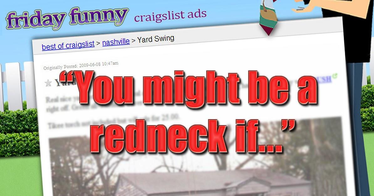 FUNNY CRAIGSLIST ADS: Redneck Yard Swing | Craigslist ...