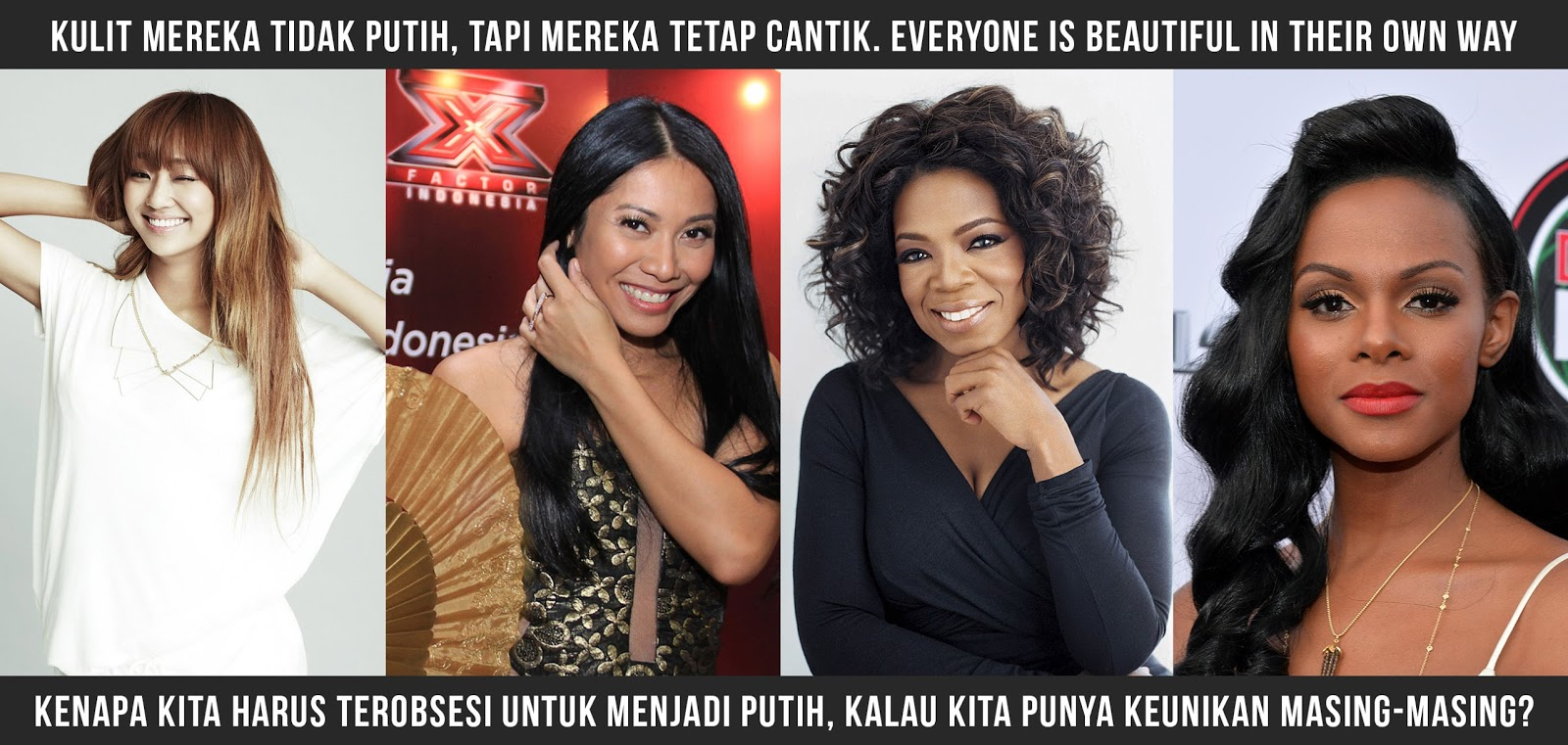 we are all beautiful in our way, putih tidak identik dengan cantik