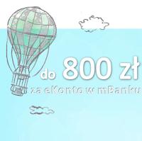 Nawet 800 zł za eKonto w mBanku