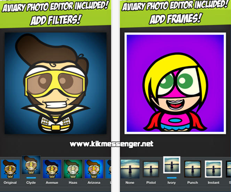 Crea un divertido avatar con Cute Avatar Creator for Kik
