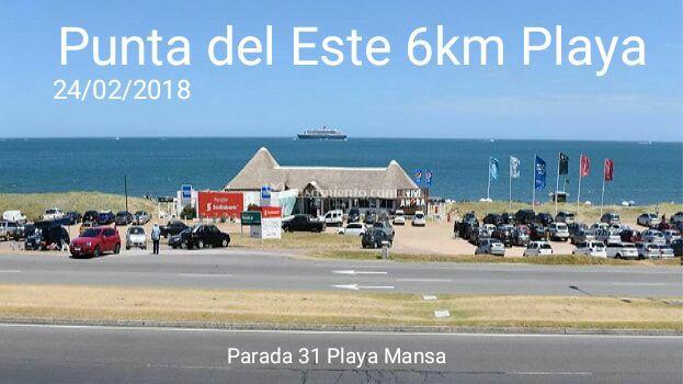6km Playa en Punta Del Este (Maldonado, 24/feb/2018)