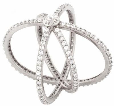Henri Bendel's Luxe Pave Orbital Cuff Ring