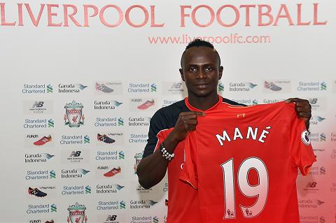 Ở Liverpool, Mane sẽ mang chiếc áo số 19.