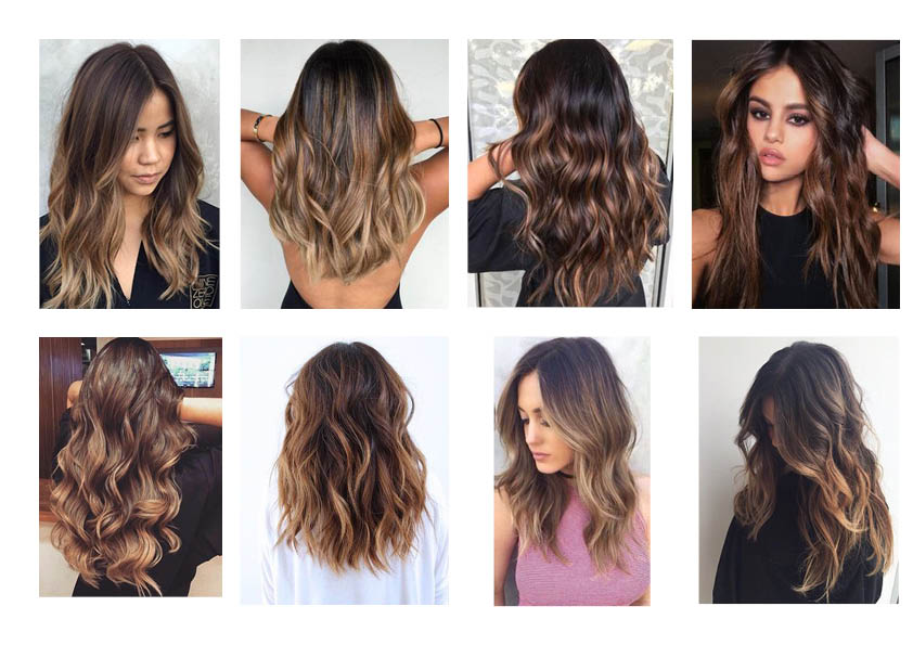 Balayage ombre on hair