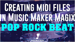 create your music - pop beat drums midi