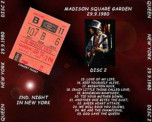 Plumdusty 39 s page queen 1980 09 29 madison square garden new york ny The killers madison square garden