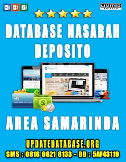 Jual Database Nasabah Deposito Samarinda