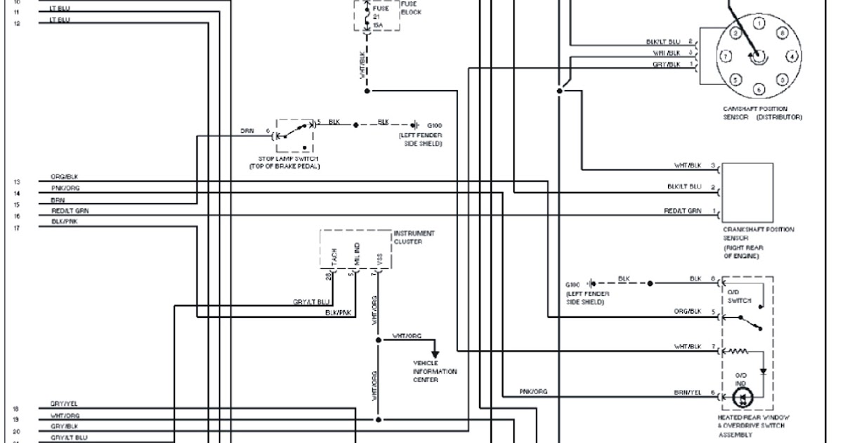 1995 Jeep Grand Cherokee L  Wiring Diagram | Schematic