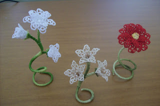 3D Tatting flowers