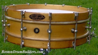 Mid 1920s George B. Stone & Son Separate Tension Orchestra Drum