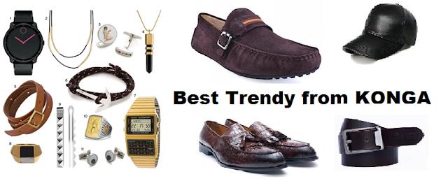 Men Accessories like shoe belt ring caps