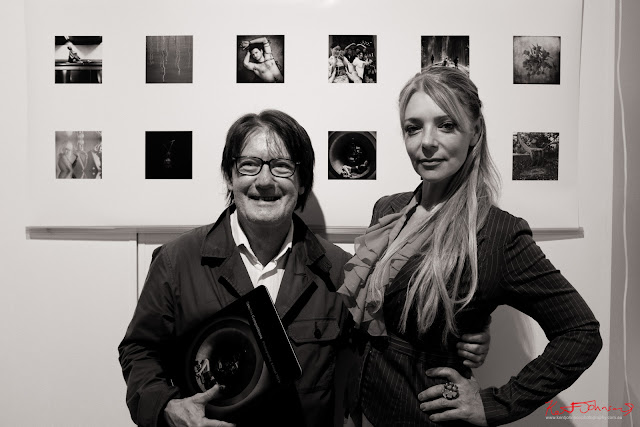 Photographers Nyk Sykes with Clare Mcshanag at Add On, 541 Art Space - Photo by Kent Johnson for Street Fashion Sydney.