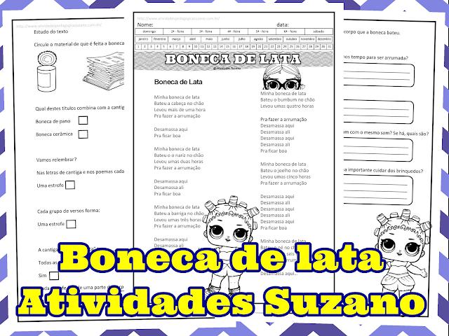 Trabalhando interpretação da música Boneca de Lata
