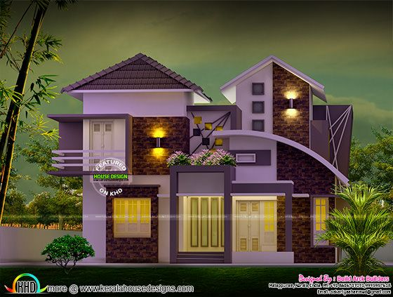 Cute modern house in 2190 sq-ft