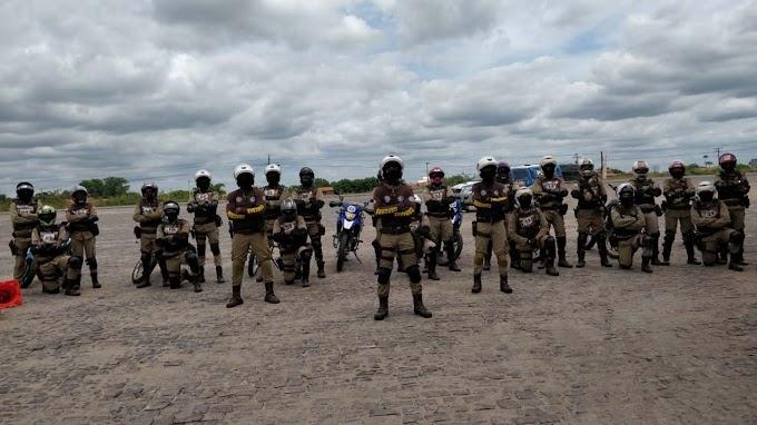 Policiais militares da 91ª CIPM concluem curso de motopatrulhamento