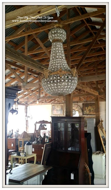 Vintage Crystal Chandlier-European-Round Top Texas-From My Front Porch To Yours