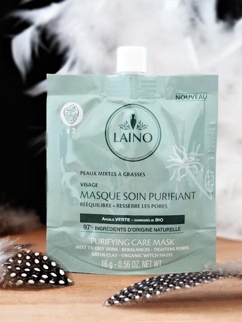 avis Masque Soin Purifiant Argile Verte Laino, masque a l'argile verte laino, avis masque argile laino, masque a l'argile peau mixte a grasse, laboratoires gilbert