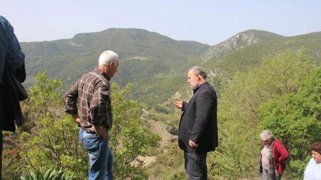 Πρέβεζα: Περιοδεία του Ν. Μωραΐτη στην Κρυοπηγή που επλήγη από κατολισθήσεις