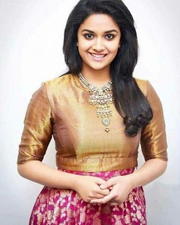 Keerthy Suresh in Brown Color Dress with Cute Smile Latest Image